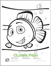 clown fish free color by note rhythm worksheet