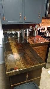 Kitchen Countertop Ideas Best 25 Pallet Countertop Ideas On Pinterest Pallet Rustic