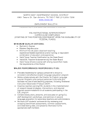 Related Experience Resume Esl Resume Lesson Plan Resume For Your Job Application