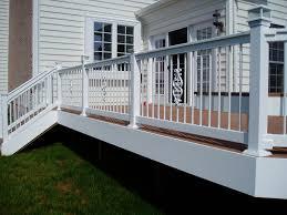 decor u0026 tips creative deck railing designs ideas with wood deck