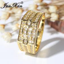 big fashion rings images Junxin male gold color geometric big ring luxury cubic zirconia jpg