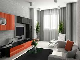 Window Treatment Ideas For Large Windows Living Room Interior Ideas With Gray Curtain Covering Large Glass