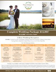 wedding packages prices lessing s estate at three inn unique wedding venue