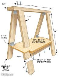 How To Make A Fold Down Workbench How Tos Diy by 25 Unique Folding Sawhorse Ideas On Pinterest Saw Horse Diy