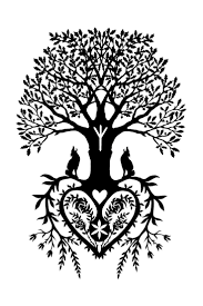 wood tattoo designs superb tree of life with wolfs tattoo design tree of life