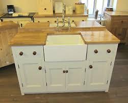 free standing kitchen sink cupboard details about 1500 x 600 freestanding pine kitchen belfast sink unit oak worktop