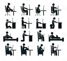 Office Chair Clipart Bad And Good Working Position Of The Human At The Computer In