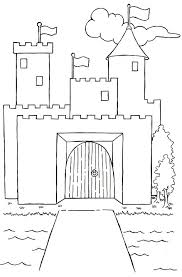 drawn castle moat drawing pencil and in color drawn castle moat