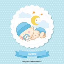 baby card baby boy card vector free