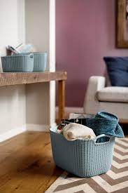 home design products keter keter curver knit rectangular basket 3 piece set large misty