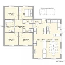plan plain pied 4 chambres amazing dessin plan de maison 1 maison 130m2 plan plain pied 4