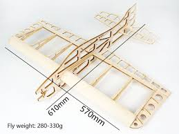 free shipping balsa wood airplane model sunday 610mm wingspan