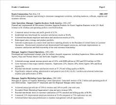 Manager Of Operations Resume Sample Operations Manager Resume 9 Download Free Documents In