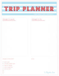family vacation planner template free summer planning printables 11 magnolia lane click here to download the trip planner