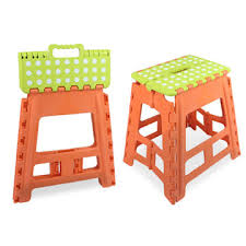 pp folding step stool suitable for outdoor the plastic folding