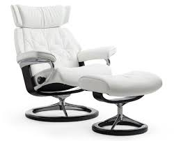 White Chair With Ottoman Stressless Skyline Chair Ottoman Signature Base The Century