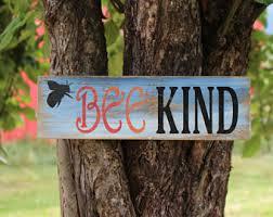 Bee Garden Decor Bee Happy Wood Wall Decor Bee Sign Bee Decor Nursery