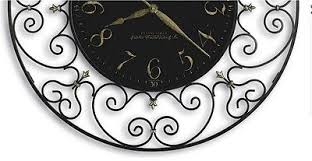 black wrought iron table clock stylish wrought iron wall clock regarding black scroll frame 36