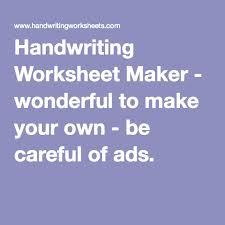 best 25 handwriting worksheet maker ideas on pinterest type