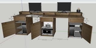 fabriquer bureau forum association les copeaux réaliser un grand bureau informatique