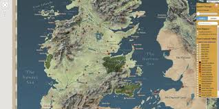 Map Of Westeros World by Game Of Thrones Interactive Westeros Map Using Google Unveiled