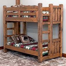 Barnwood Bunk Beds Timber Frame Barnwood Style Bunk Bed From The Sawmill Collection