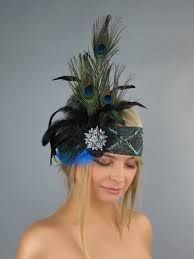 peacock headband bridal headband kentucky derby headband wedding accessory peacock