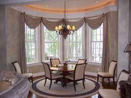 Contemporary Dining Room With Window Treatments For Bay Windows - Dining room windows
