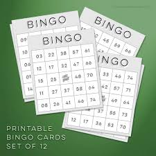 download free bingo cards to print free printables online