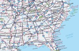 southeast us road map label southern us states printout enchantedlearningcom outline