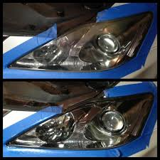 lexus yellow headlights headlight restoration clublexus lexus forum discussion