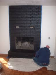 black painted fireplace home design furniture decorating lovely