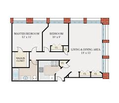 2 bedroom 1 bath floor plans floor plans ribbon mill apartments for rent in manchester ct
