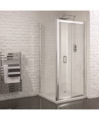 Frameless Bifold Shower Door Aquadart Venturi 6 Frameless Bifold Shower Door 1000mm
