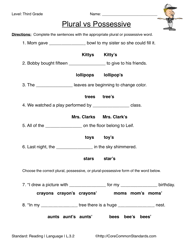 brilliant ideas of common core 3rd grade worksheets in letter