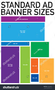 Top Standard Advertising Web Banner Size Template Stock Vector  @RG56