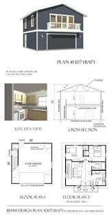 2 story garage plans with apartments garage apartment plan 64817 total living area 1068 sq ft 2