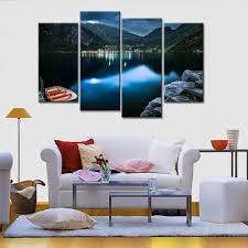 Art For Living Room Online Get Cheap Mountains Lakes Aliexpress Com Alibaba Group