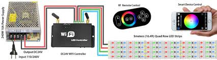 color changing led strip lights with remote brightest flexible quad row rgb led strips lighting nanometer