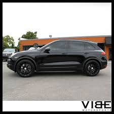 porsche cayenne black wheels 22 victor equipment innsbruck black wheels rims fits porsche