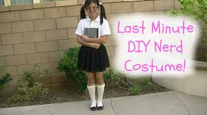 nerd costumes for halloween diy last minute nerd costume diywithpri youtube