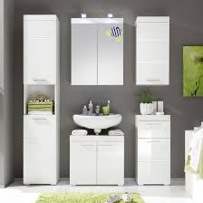 White Gloss Bathroom Furniture Amanda Bathroom Cabinet In White With High Gloss Front Width