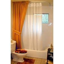 Small Shower Curtain Rod Ceiling Small Bathroom Design With Brown And White Shower