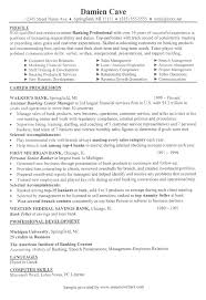 Accounting Intern Resume Examples by Sample Resume For A Banker From Resumewriters Com Resumes