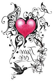butterfly and heart tattoo designs butterflies flowers and hearts