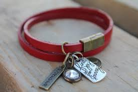 magnetic bracelet designs images Red double wrap leather magnetic bracelet kd designs jpg