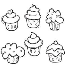 easy to draw cupcakes for the kids or those of use who are