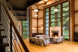 American Homes Interior Design The Bridge House Bridges The Gap Between Modern Design And Rustic