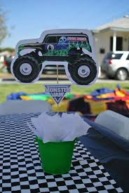 monster truck power wheels grave digger monster truck grave digger centerpieces jrs party pinterest