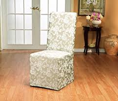 Dining Room Chairs With Slipcovers Sure Fit Scroll Dining Room Chair Slipcover